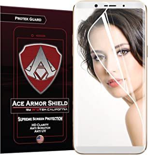Oppo F5 Youth (2-Pack) Ace Armor Shield Full Coverage Screen Protector Clear Anti-Bubble Shield