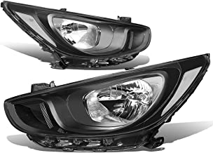 For Accent RB 4th Gen Pair of Black Housing Clear Corner Headlights Lamp