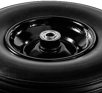 IREKO Anti Flat Replacement Turf Wheels for Wheelbarrow 13 Inches No Flat Tire Black
