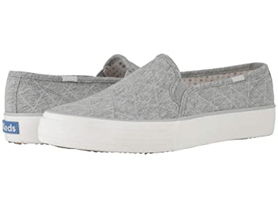 Keds Double Decker Quilt (Light Gray Quilted Jersey) Women