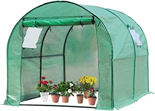 FDW Portable Greenhouse (L9.83'xW6.42'xH6.33') Indoor Outdoor Large Plant Shelves Tomato Herb Canopy Winter Walk-in Green House for Patio