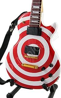 Miniature Guitar Zakk Wylde Red & White Bullseye