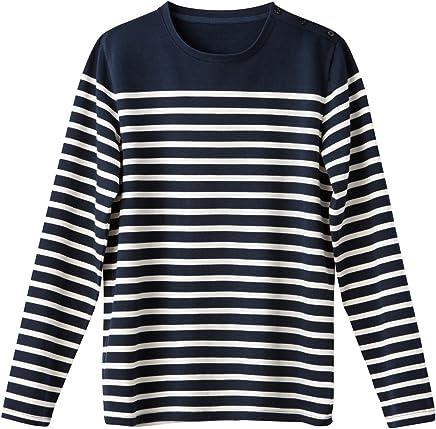 4911668b6f88e2 La Redoute Collections Mens Breton Striped Cotton T-Shirt