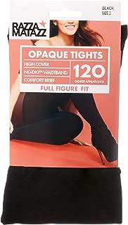 Razzamatazz Women's Pantyhose 120 Denier Full Figure Fit Opaque Tights