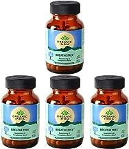 4 Pack Organic India Breathe Free 60 Capsules Bottle (Total 240 Capsules)