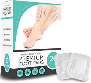 Premium Cleansing Detox Foot Pads, Organic Non GMO Adhesive Pads, Relieve Stress, Sleep Better, Pain Relief (20 Count)