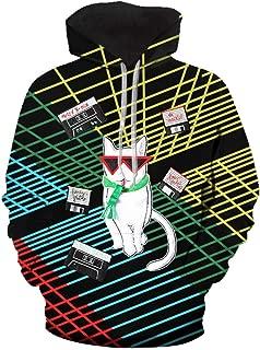 Christmas Print Unisex Long Sleeve Hoodie Sweatshirt Ugly Sweater Pullover Tops for Women Men