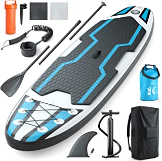 Jasonwell Inflatable Stand Up Paddle Board Premium Stand-Up Paddleboards Standup Standing Boat for Kids Youth Adult with S...