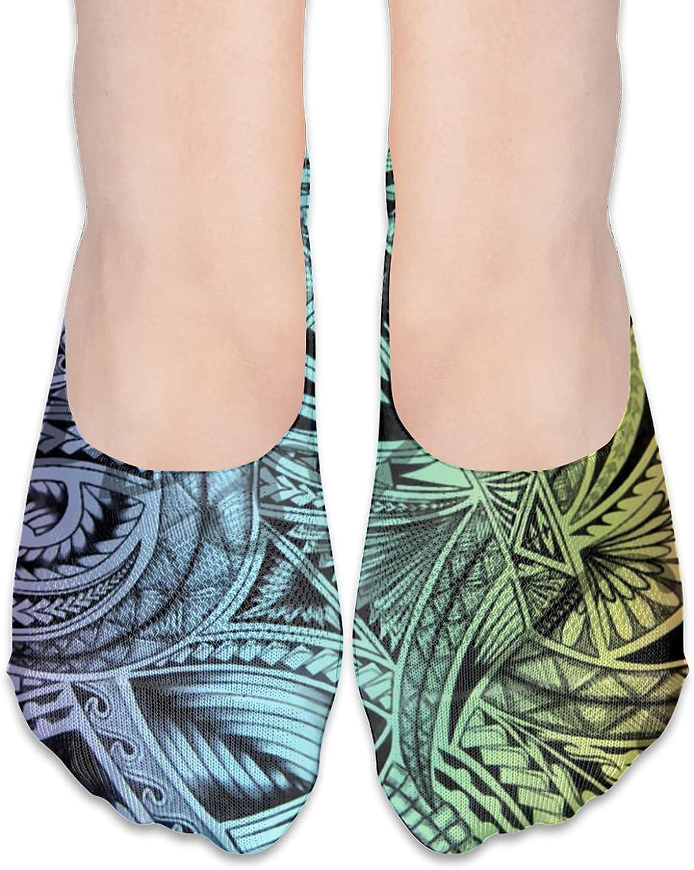 Hawaiian - Samoan - Polynesian Unisex Adult Breathable Liner Socks Non Slip No Show Ankle Socks Low Cut Invisible Socks