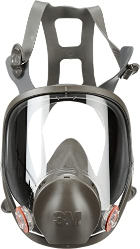 3M Full Facepiece Reusable Respirator 6900, Paint Vapors, Dust, Mold, Chemicals, Large,Gray