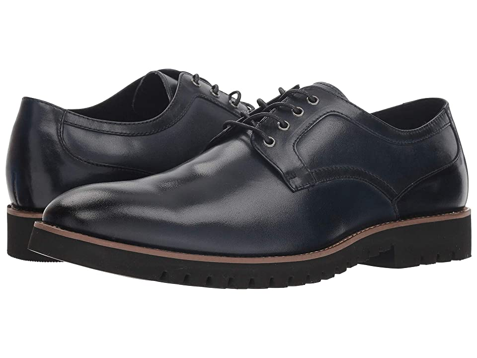 Stacy Adams Barclay Plain Toe Lace Up Oxford (Indigo) Men