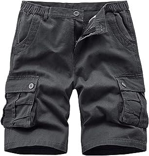 APTRO Mens Cargo Shorts Cotton Combat Casual Shorts with Multi Pockets D02