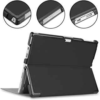 Kepuch Custer Surface Pro 4 5 6 Case - Ultra-Thin PU Leather Case Shell Hard Case Cover for Surface Pro 4 5 6 - Black