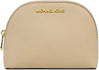 Michael Kors Women's Jet Set Travel Large Leather Pouch Cosmetic Bag