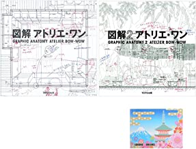 Atelier 2 Books Bundle Set , Atelier Bow Wow - Graphic Anatomy 1 & 2 ( English and Japanese Edition) , Original Sticky Notes
