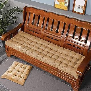 LRuismei Coussin de banc de jardin rectangulaire épais de 8 cm pour 2 ou 3 places, en coton, pour chaise longue ou balanço...