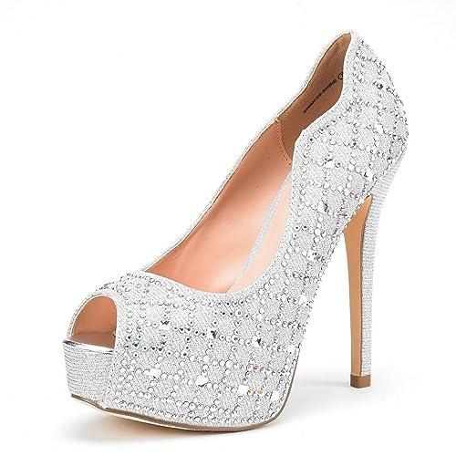 4805d605bdb DREAM PAIRS Women s Swan-25 High Heels Plaform Dress Pump Shoes
