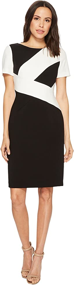 Tahari by ASL - Color Block Sheath Dress