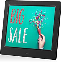 MRQ 8 Inch Digital Photo Frame, Picture Frame with HD IPS Screen 180° Degree Wide Viewing Angle with Remote Control, Support Video/Photo/Music Playing, with USB SD Slot
