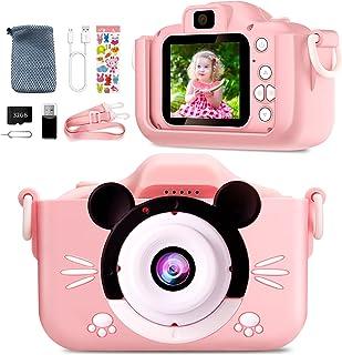 Appareil Photo Enfant-Mini Caméra Numérique Rechargeable Caméscope Photo Vidéo Cadeau pour Filles et Garçons de 3 à 12 An...