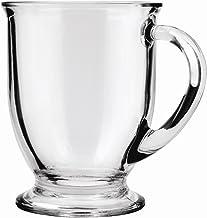 أكواب قهوة زجاجية من أنكور هوكينغ سعة 473 مل، شفافة، مجموعة من 6