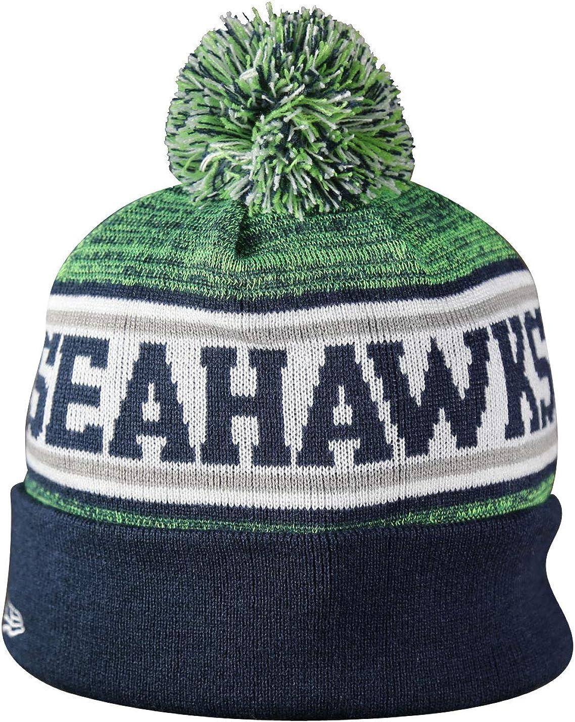 SEA Seahawks Sport Knit Winter Wool Warm Beanie Pom Hat Multicolour