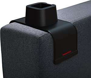 THEMATICO - Couch Cup Holder Anti-Spill Sofa Silicone Drink Coaster for Armrest Chair and Recliner (Black)