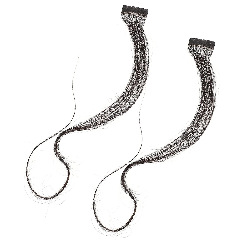 Lurrose 2pcs Long Max 58% OFF Hair Extension Natural unisex Black P Piece Wavy