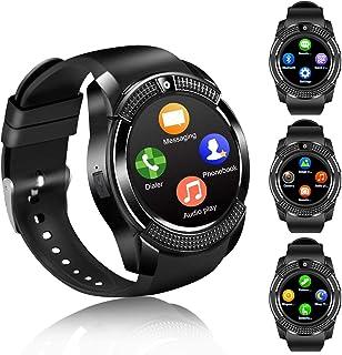 FENHOO Relojes Inteligentes con Soporte de Pantalla táctil, Tarjeta SIM, podómetro, Compatible con teléfonos Android iOS (...