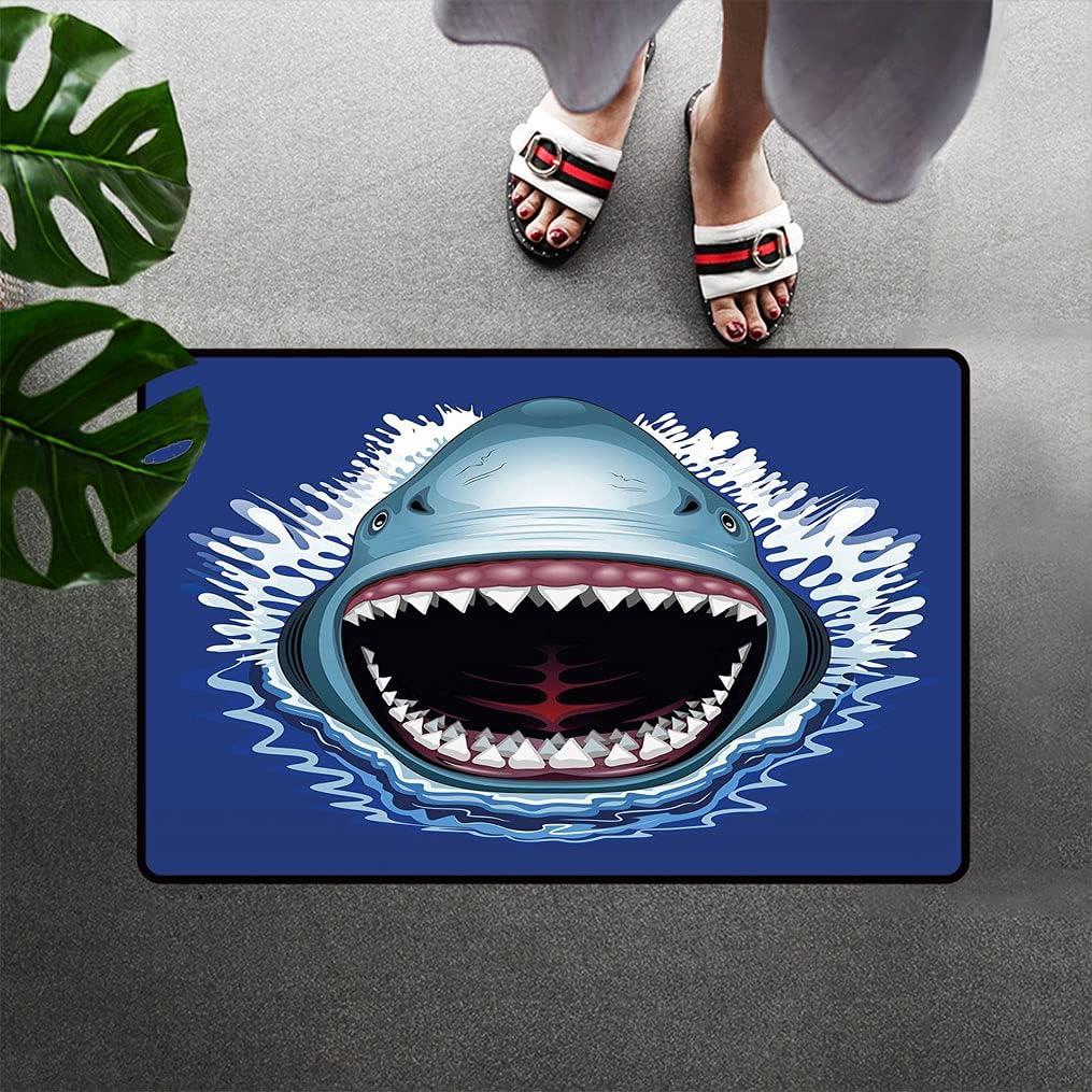 Bohogifts Shark Floor Mat Attack of Sharp Mouth Teeth Open Super-cheap Ranking TOP11 Sea