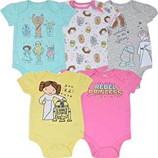 Baby Girls' 5 Pack Bodysuits