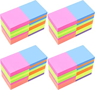 4A Sticky Notes,3 x 3 Inches,Neon Assorted,Self-Stick Notes,100 Sheets/Pad,18 Pads/Box,4 Boxes,7200 Sheets Total,4A 303x18-N