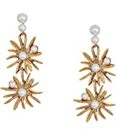 Oscar de la Renta - Classic Pearl Starburst Drop Earrings