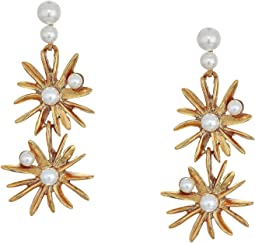 Classic Pearl Starburst Drop Earrings