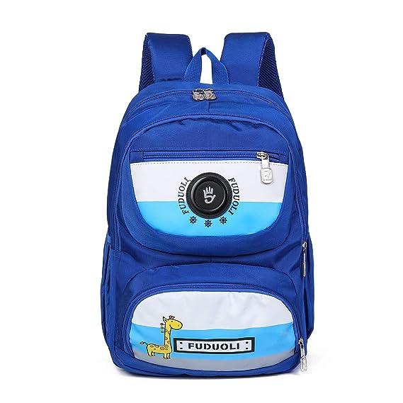 Tinytot Designer Hi Storage School Backpack School Bag for Boys & Girls (Light Blue) 20 L