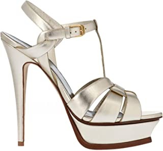 SAINT LAURENT Luxury Fashion Womens 5342770PS007100 Gold Sandals | Fall Winter 19
