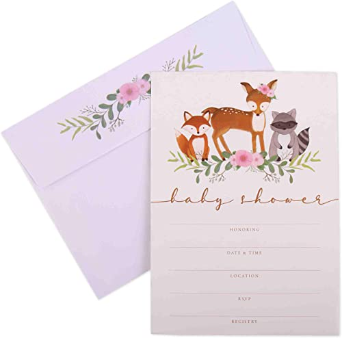 2021 Invitations outlet online sale for Baby Shower - 20 Cards new arrival with Envelopes sale