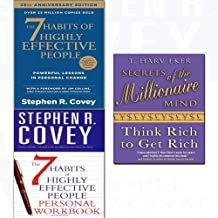 Secrets of the millionaire mind,7 habits of highly effective people,personal workbook 3 books collection set