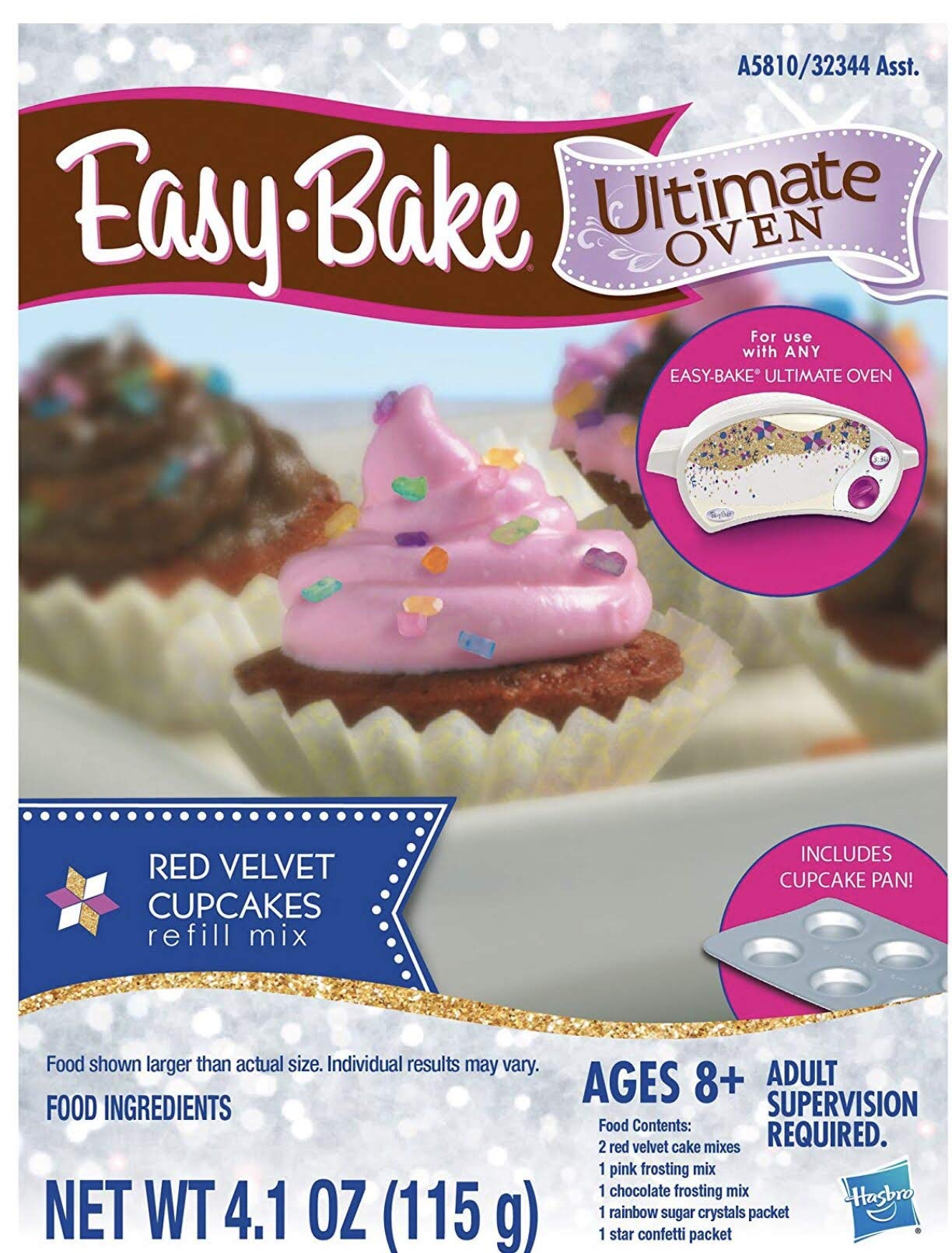 Mixing Bowl and Spoon Green Easy Bake Ultimate Oven Baking Star Edition 2 Sweet Treats Tasty Oven Recipes 2 Oven Refill Mixes 5 Items Total