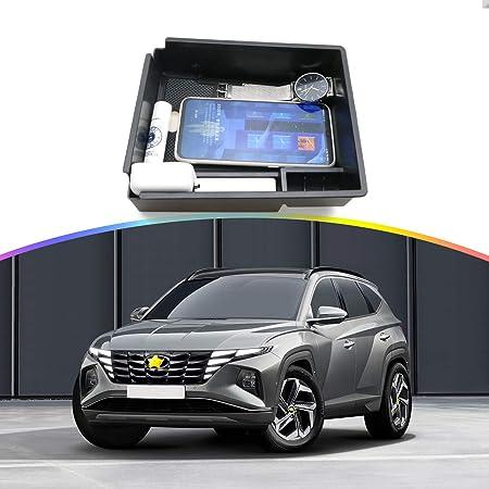 Ruiya H Yundai Tucson Nx4 2021 Armlehne Aufbewahrungsbox Mittelkonsole Organizer Mit Antirutschmatten Angepasst Auto Zubehör 2021 Update Schwarz Auto