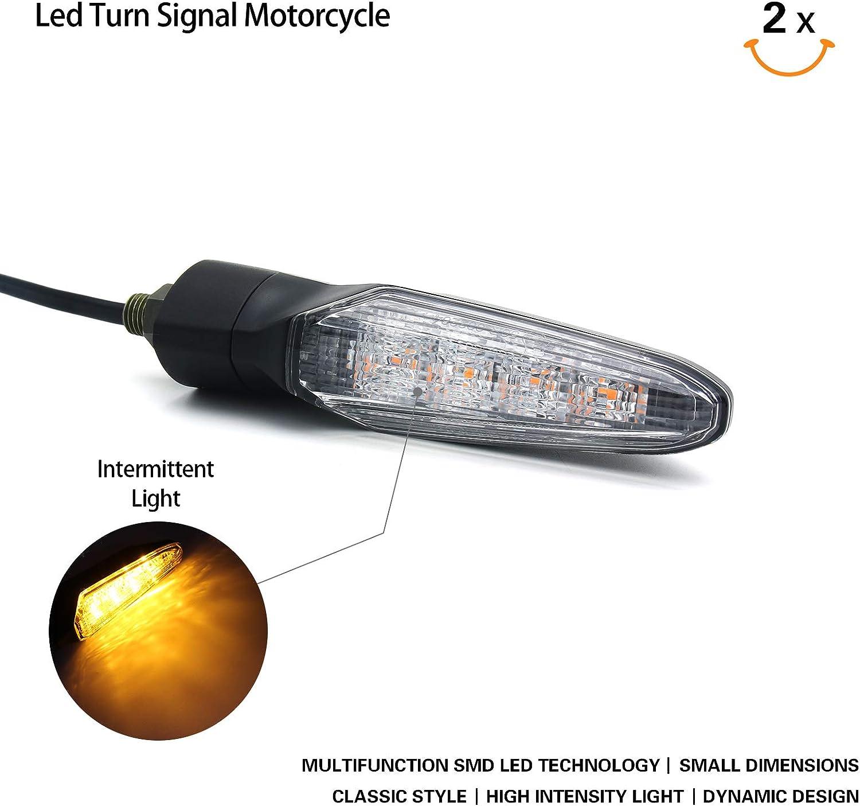 Universal 12V LED Turn Signal Indicator Amber Light For Honda TTR Dirt Bike