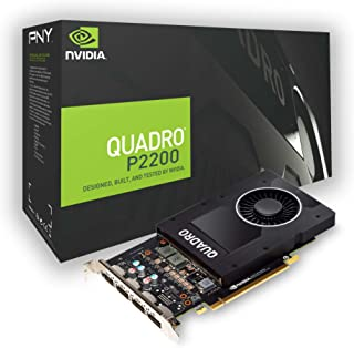 PNY VCQP2200-PB - Tarjeta gráfica (Quadro P2200, 5 GB, GDDR5X, 160 bit, 5120 x 2880 Pixeles, PCI Express x16 3.0)