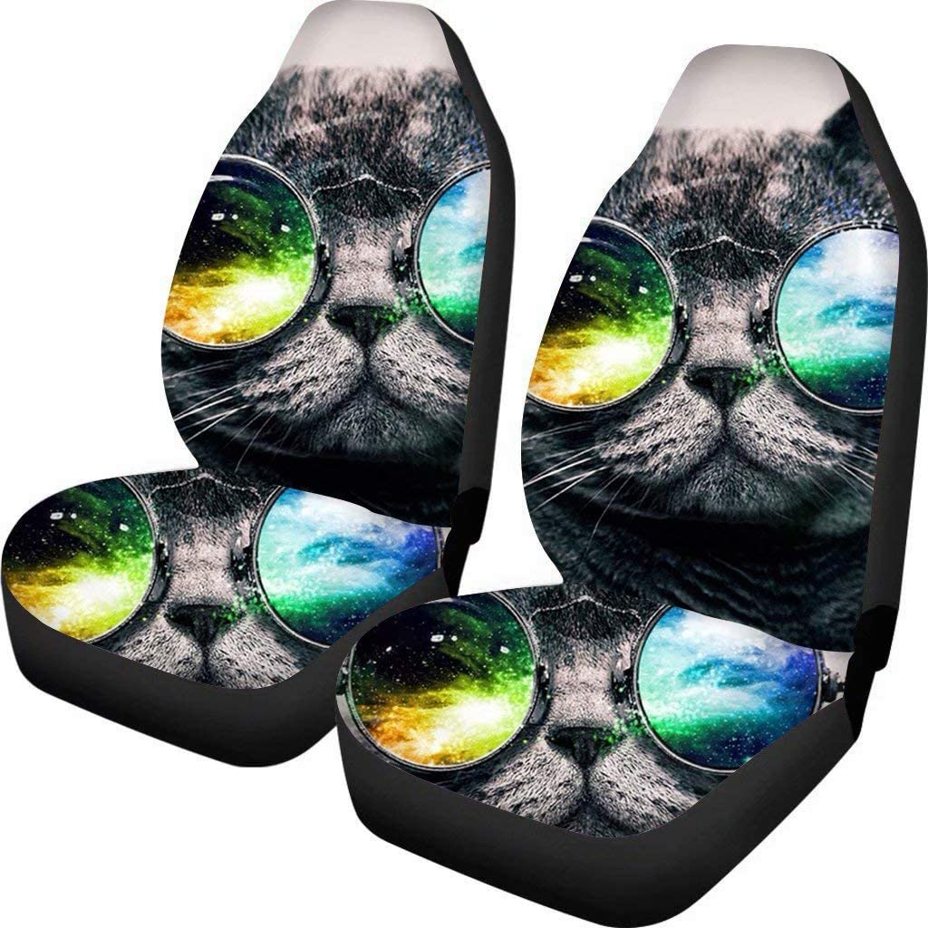 Allcute Cool Sunglasses Grey Handsome San Antonio Mall Car Over item handling Front Cat Cover Seat