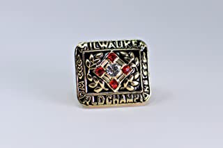 1957 Hank Aaron Milwauke Braves High Quality Replica 1957 MLB World Series Championship Ring Size 10.5-Gold Colored USA SHIPPING