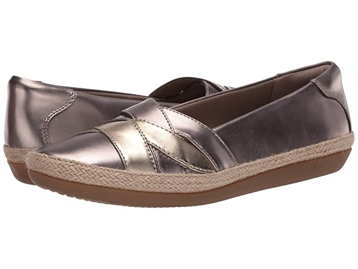 Clarks  Danelly Shine (Pewter Synthetic Multi) Womens Shoes