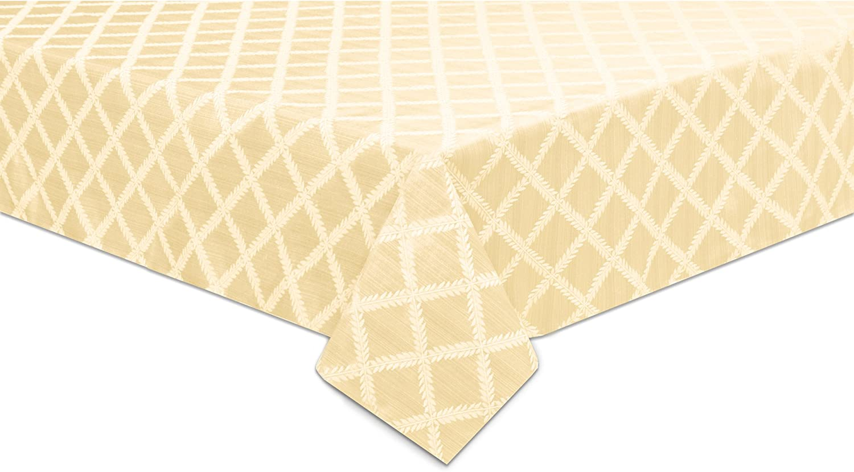Lenox Laurel Leaf 70 x122  Oblong Tablecloth, Ivory