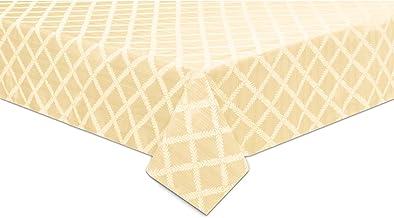 "Lenox Laurel Leaf 70""x104"" Oblong Tablecloth, Ivory"