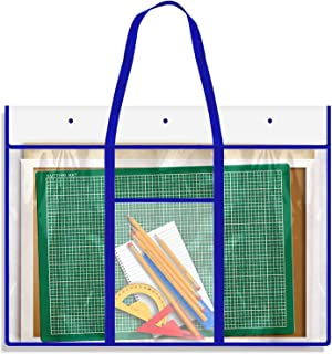 Large Bulletin Board Storage Bag (31 x 25 inch), Opret Posters Organizer Transparent Storage Bag for Artworks, Charts and Teaching Material
