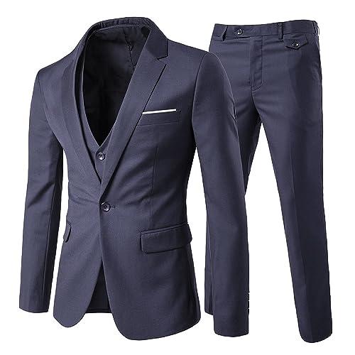 Cloudstyle Traje suit hombre 3 piezas chaqueta chaleco pantalón traje al  estilo occidental 4699e277d35