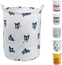 HeyToo 19.7in Waterproof Foldable Laundry Hamper, Dirty Clothes Laundry Basket,Handle Linen Bin Storage Organizer for Toy ...